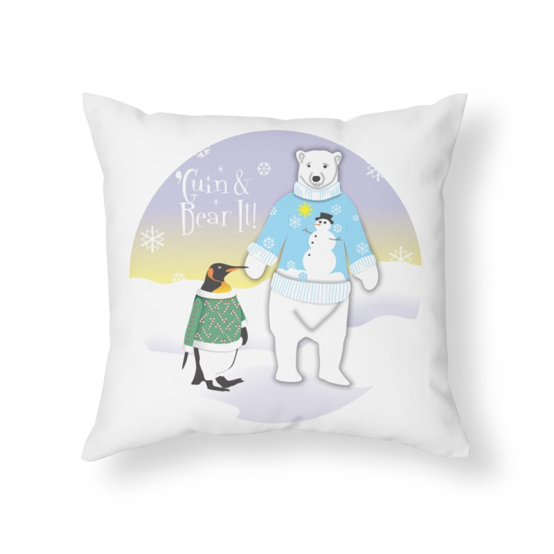 'Guin & Bear It! Home Throw Pillow by FayeKleinDesign's Artist Shop