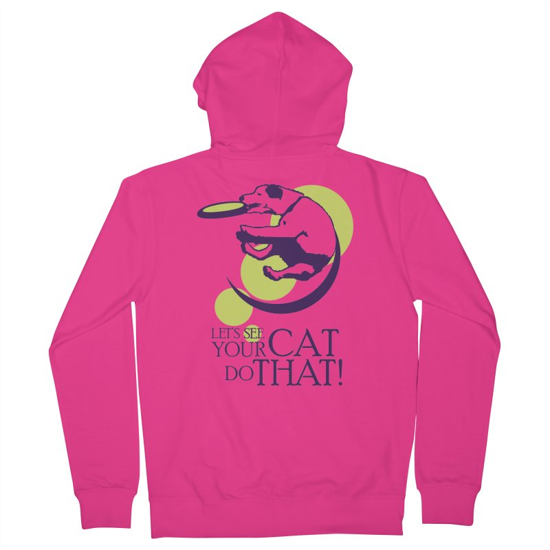 Let's See Your Cat Do That! Men's Zip-Up Hoody by FayeKleinDesign's Artist Shop