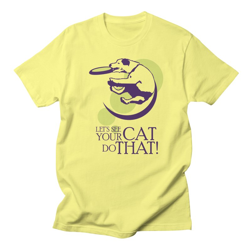 Let's See Your Cat Do That! Men's Regular T-Shirt by FayeKleinDesign's Artist Shop