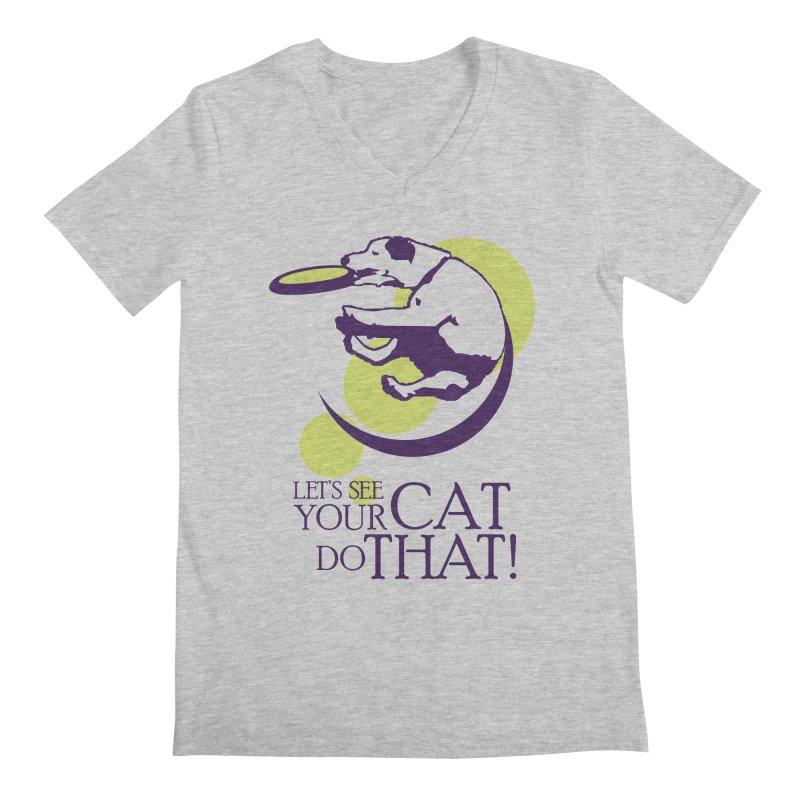 Let's See Your Cat Do That! Men's Regular V-Neck by FayeKleinDesign's Artist Shop