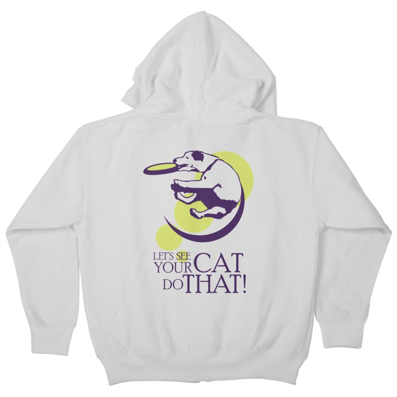 Let's See Your Cat Do That! Kids Zip-Up Hoody by FayeKleinDesign's Artist Shop