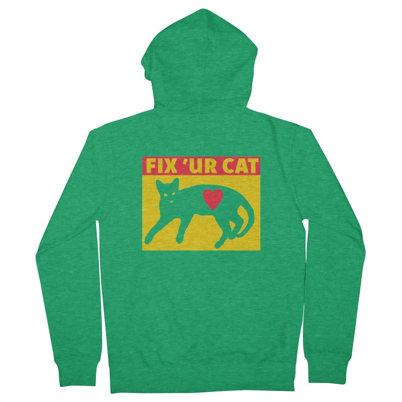 Fix 'Ur Cat Men's Zip-Up Hoody by FayeKleinDesign's Artist Shop