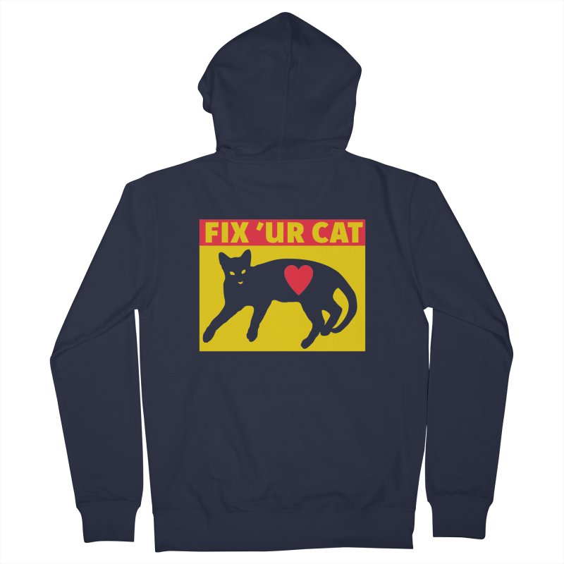 Fix 'Ur Cat Women's French Terry Zip-Up Hoody by FayeKleinDesign's Artist Shop