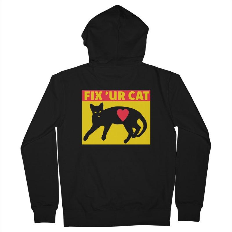 Fix 'Ur Cat Men's French Terry Zip-Up Hoody by FayeKleinDesign's Artist Shop