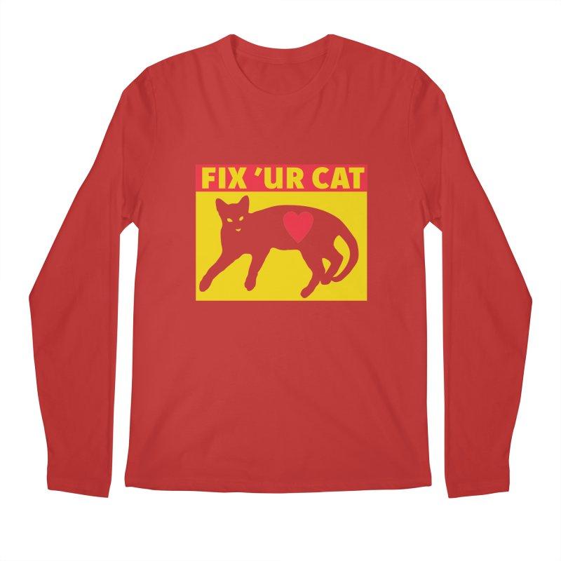 Fix 'Ur Cat Men's Regular Longsleeve T-Shirt by FayeKleinDesign's Artist Shop