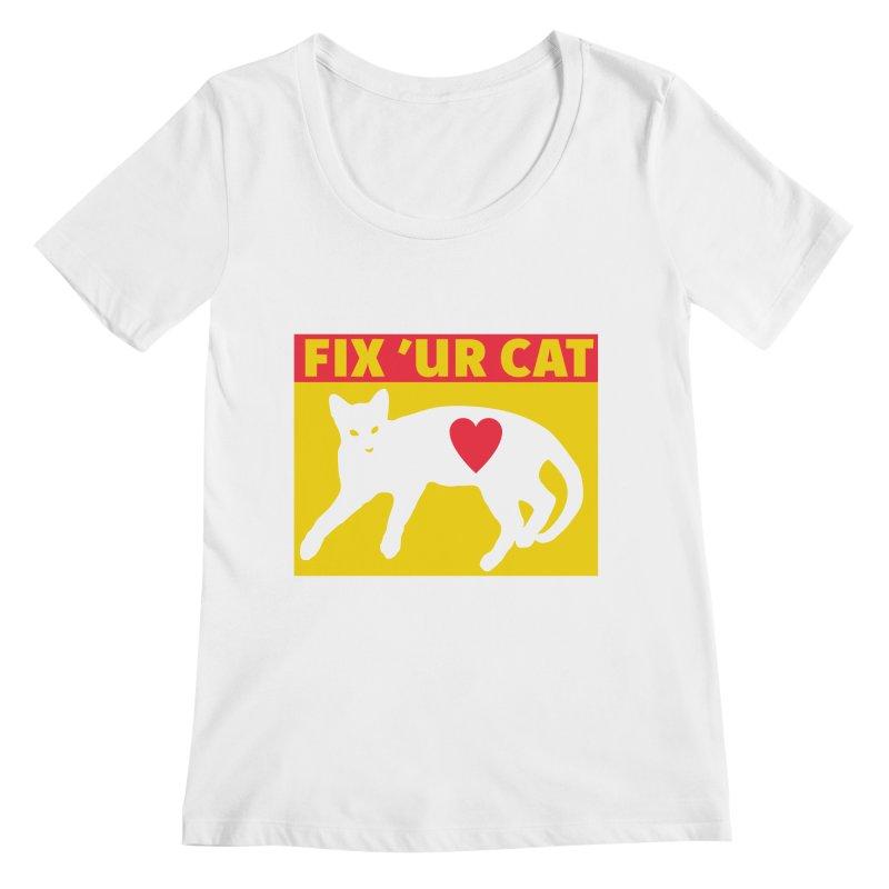 Fix 'Ur Cat Women's Regular Scoop Neck by FayeKleinDesign's Artist Shop