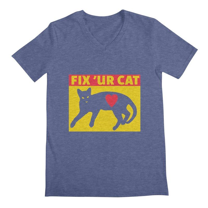 Fix 'Ur Cat Men's Regular V-Neck by FayeKleinDesign's Artist Shop