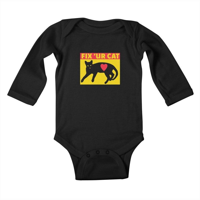 Fix 'Ur Cat Kids Baby Longsleeve Bodysuit by FayeKleinDesign's Artist Shop