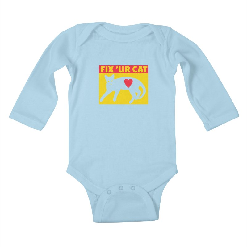 Fix 'Ur Cat Kids Baby Longsleeve Bodysuit by FayeKleinDesign's Artist Shop