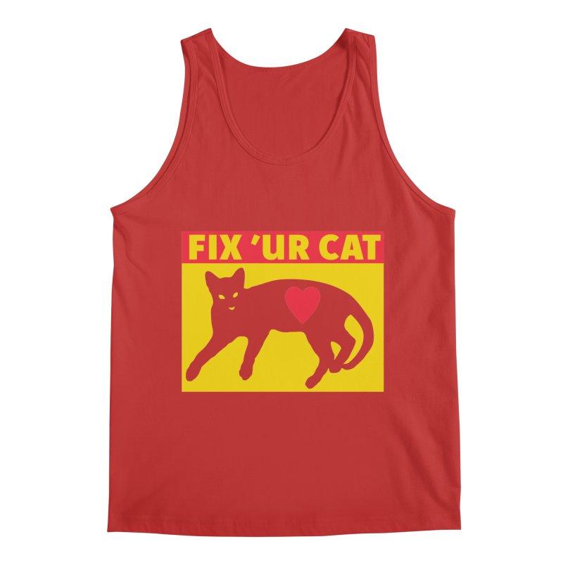 Fix 'Ur Cat Men's Regular Tank by FayeKleinDesign's Artist Shop