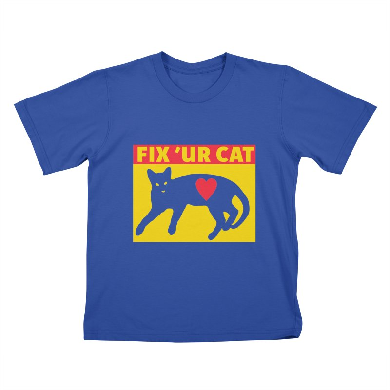 Fix 'Ur Cat Kids T-Shirt by FayeKleinDesign's Artist Shop