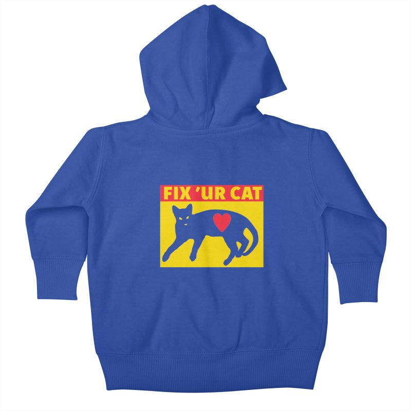 Fix 'Ur Cat Kids Baby Zip-Up Hoody by FayeKleinDesign's Artist Shop