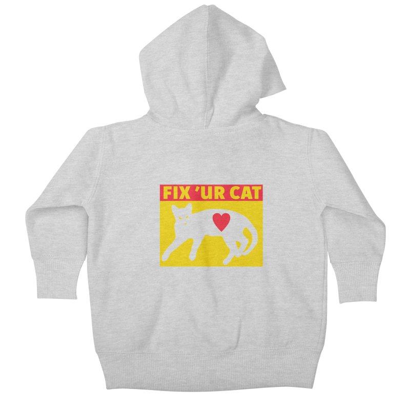 Fix 'Ur Cat Kids Baby Zip-Up Hoody by FayeKleinDesign's Artist Shop