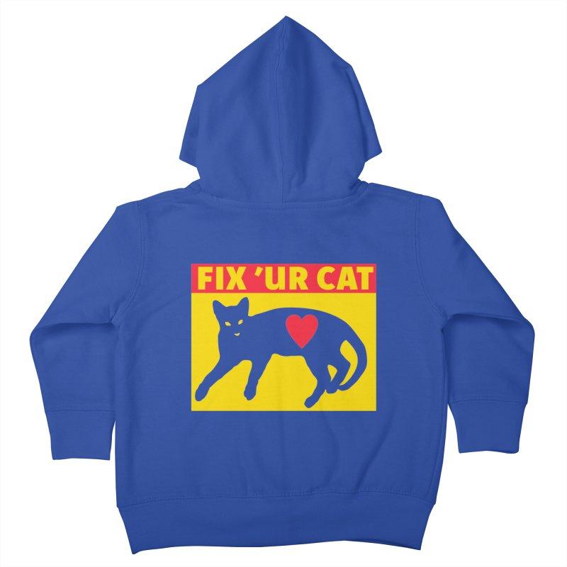 Fix 'Ur Cat Kids Toddler Zip-Up Hoody by FayeKleinDesign's Artist Shop