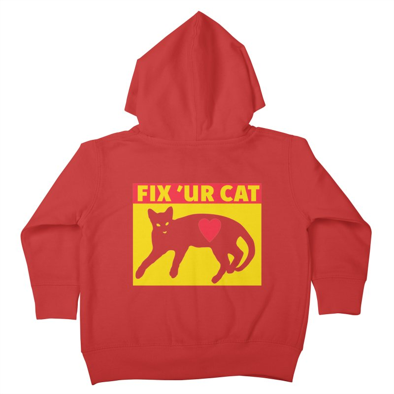 Fix 'Ur Cat Kids Toddler Zip-Up Hoody by FayeKleinDesign's Artist Shop