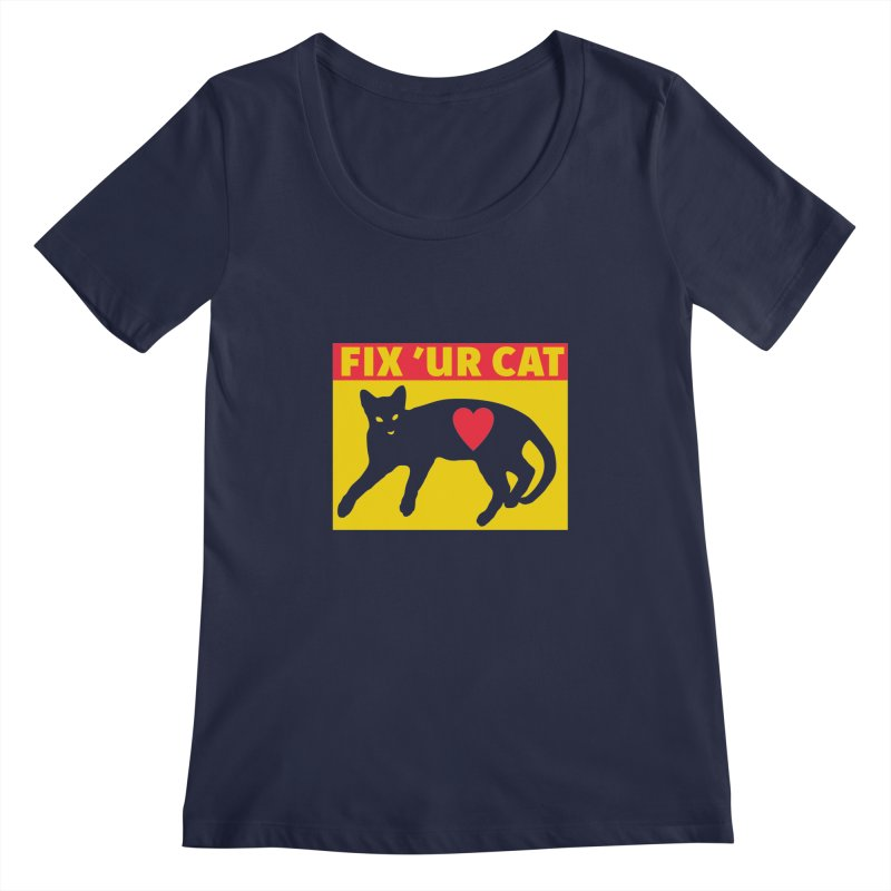 Fix 'Ur Cat Women's Regular Scoop Neck by FayeKleinDesign's Artist Shop