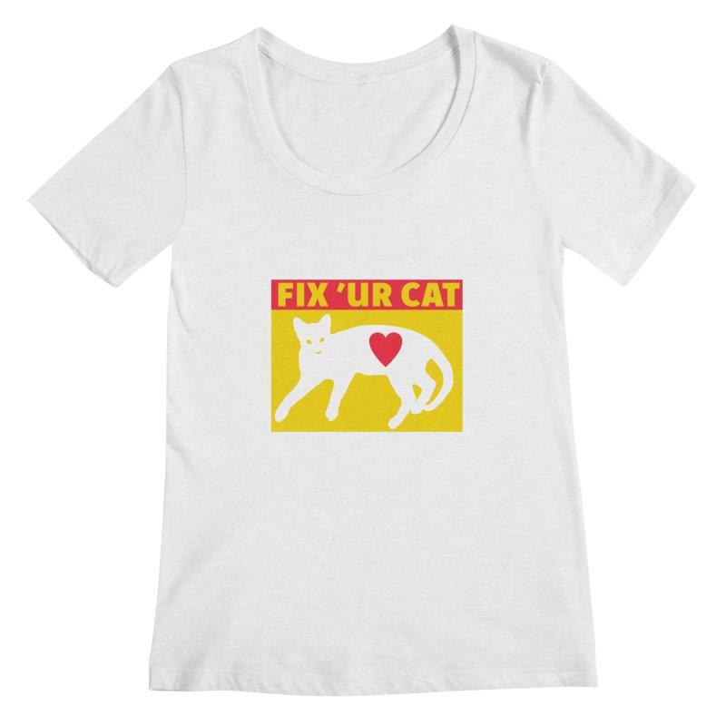 Fix 'Ur Cat Women's Scoop Neck by FayeKleinDesign's Artist Shop