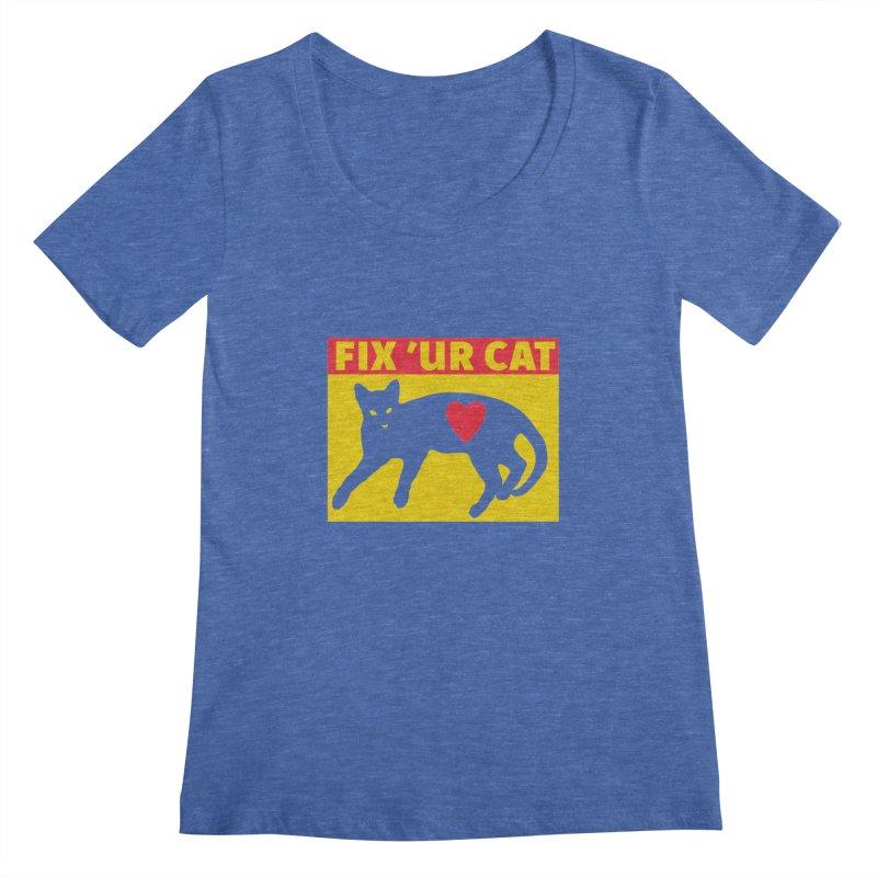 Fix 'Ur Cat Women's Scoopneck by FayeKleinDesign's Artist Shop