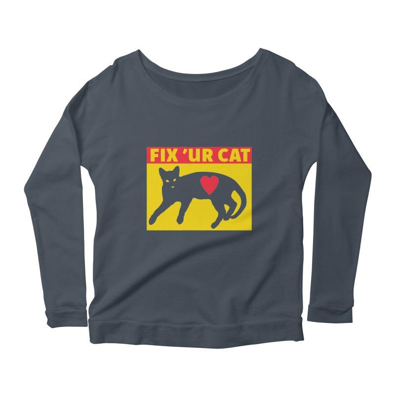 Fix 'Ur Cat Women's Scoop Neck Longsleeve T-Shirt by FayeKleinDesign's Artist Shop