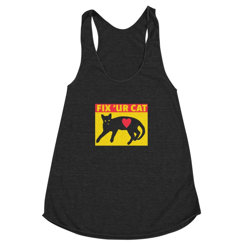 Fix 'Ur Cat Women's Racerback Triblend Tank by FayeKleinDesign's Artist Shop