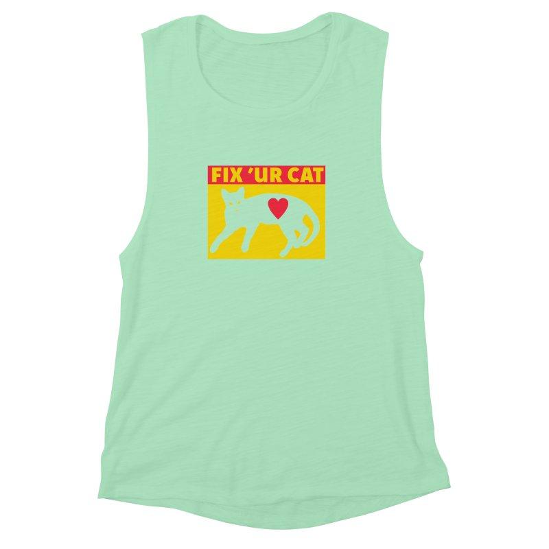 Fix 'Ur Cat Women's Muscle Tank by FayeKleinDesign's Artist Shop