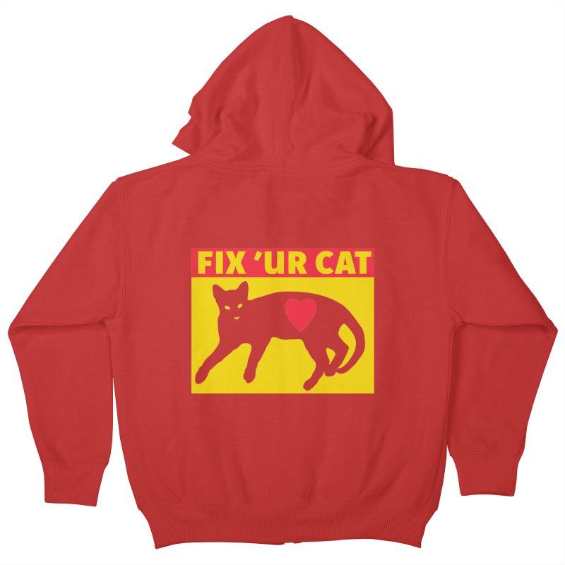 Fix 'Ur Cat Kids Zip-Up Hoody by FayeKleinDesign's Artist Shop