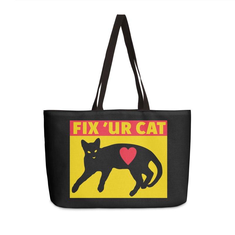 Fix 'Ur Cat Accessories Weekender Bag Bag by FayeKleinDesign's Artist Shop