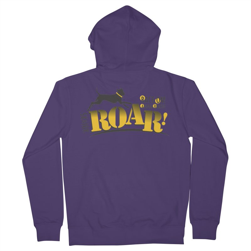 ROAR! Race On Animal Rescue Women's French Terry Zip-Up Hoody by FayeKleinDesign's Artist Shop