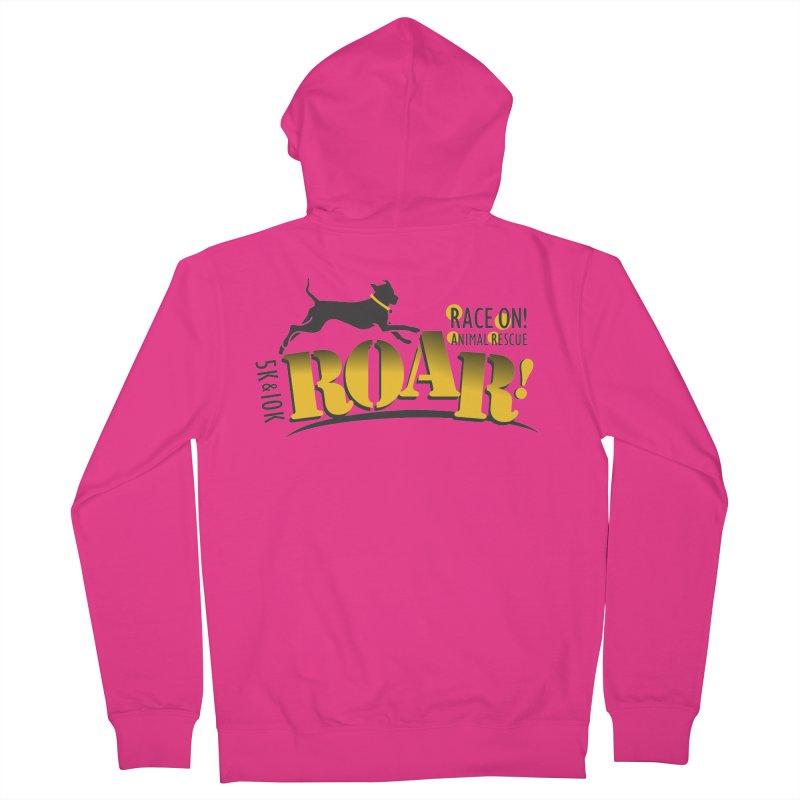 ROAR! Race On Animal Rescue Men's Zip-Up Hoody by FayeKleinDesign's Artist Shop