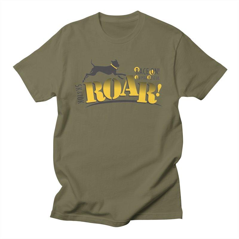 ROAR! Race On Animal Rescue Men's T-Shirt by FayeKleinDesign's Artist Shop