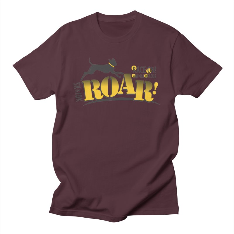 ROAR! Race On Animal Rescue Men's Regular T-Shirt by FayeKleinDesign's Artist Shop