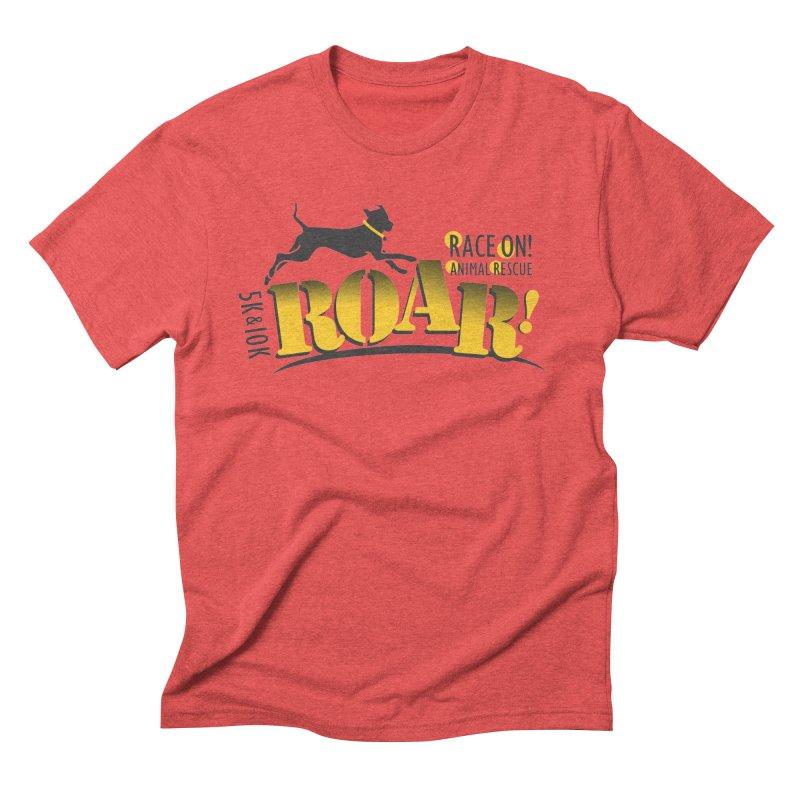 ROAR! Race On Animal Rescue Men's Triblend T-Shirt by FayeKleinDesign's Artist Shop