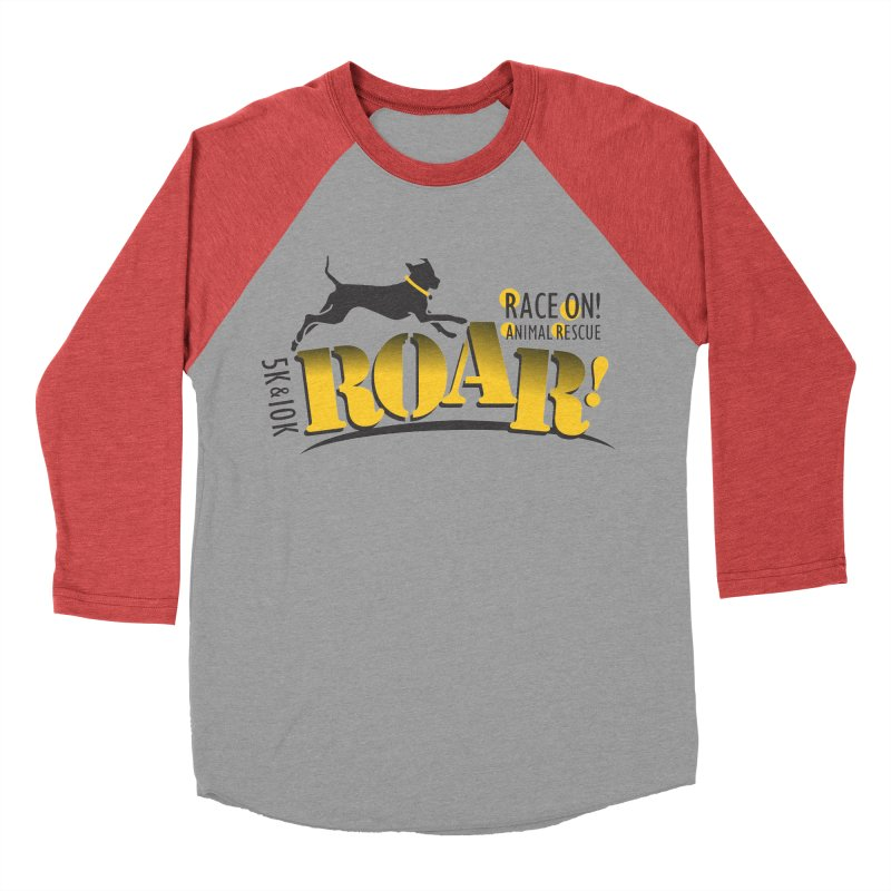 ROAR! Race On Animal Rescue Men's Baseball Triblend Longsleeve T-Shirt by FayeKleinDesign's Artist Shop