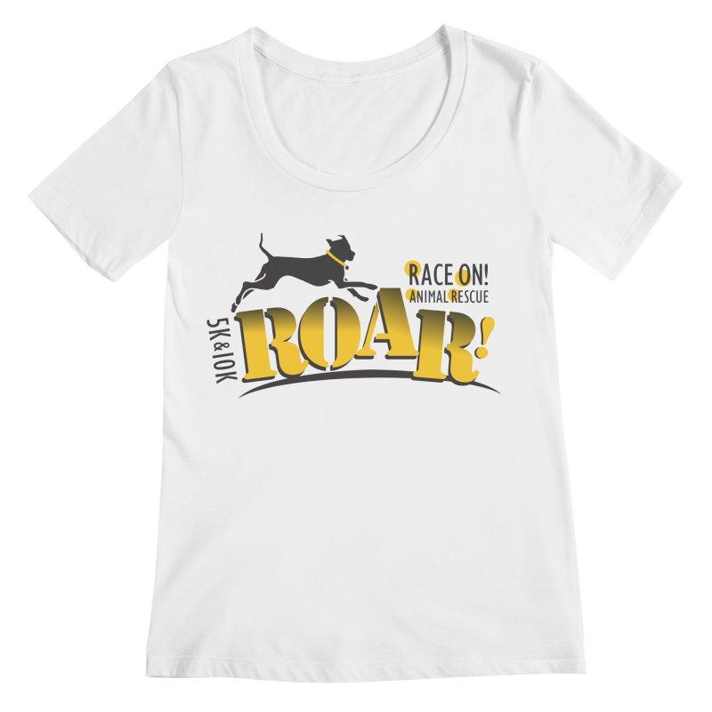 ROAR! Race On Animal Rescue Women's Regular Scoop Neck by FayeKleinDesign's Artist Shop