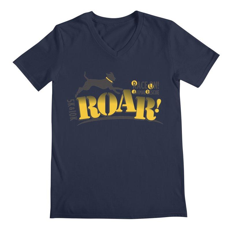 ROAR! Race On Animal Rescue Men's V-Neck by FayeKleinDesign's Artist Shop