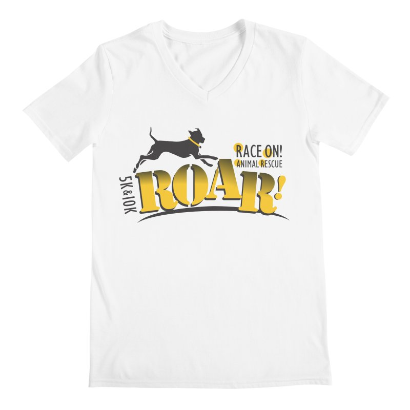 ROAR! Race On Animal Rescue Men's Regular V-Neck by FayeKleinDesign's Artist Shop