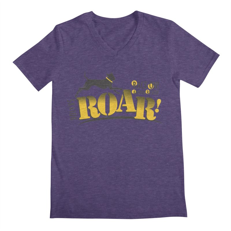 ROAR! Race On Animal Rescue Men's V-Neck by FayeKleinDesign's Artist Shop