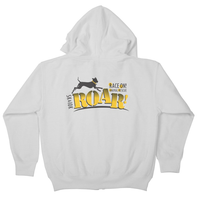 ROAR! Race On Animal Rescue Kids Zip-Up Hoody by FayeKleinDesign's Artist Shop