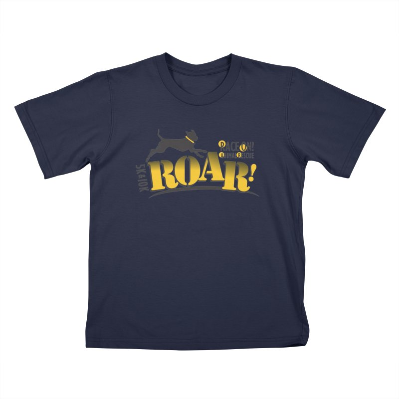 ROAR! Race On Animal Rescue Kids T-Shirt by FayeKleinDesign's Artist Shop