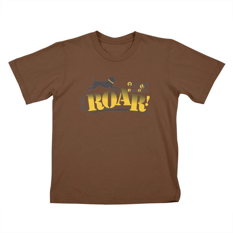 ROAR! Race On Animal Rescue Kids T-Shirt by FayeKleinDesign's Artist Shop