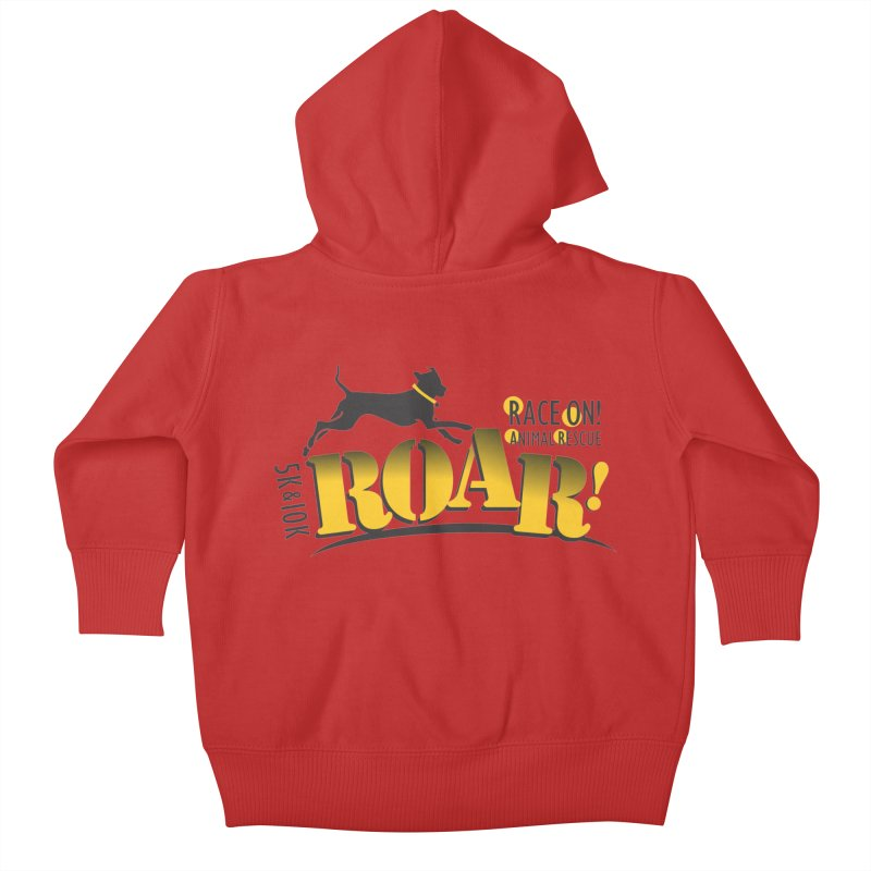ROAR! Race On Animal Rescue Kids Baby Zip-Up Hoody by FayeKleinDesign's Artist Shop