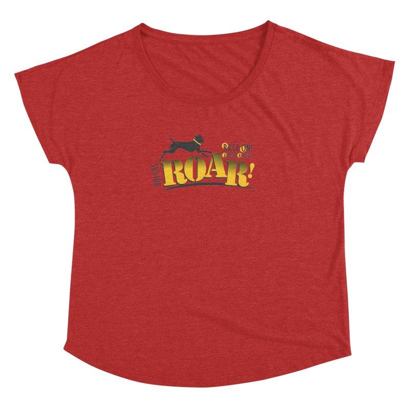 ROAR! Race On Animal Rescue Women's Dolman Scoop Neck by FayeKleinDesign's Artist Shop