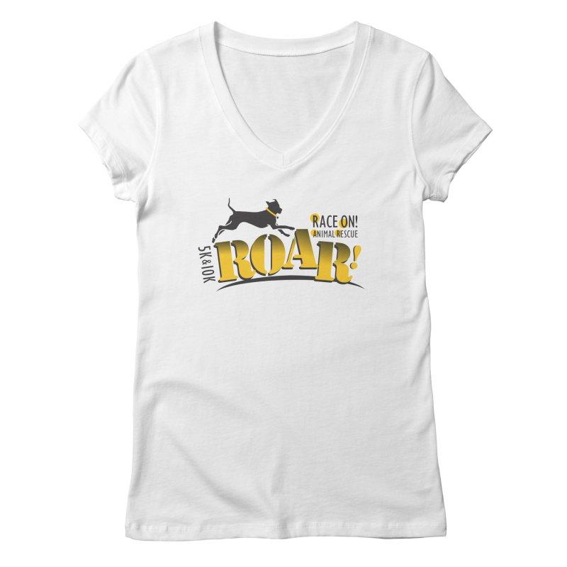 ROAR! Race On Animal Rescue Women's Regular V-Neck by FayeKleinDesign's Artist Shop