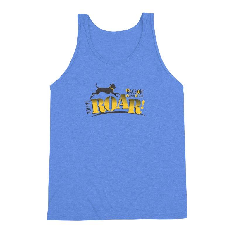 ROAR! Race On Animal Rescue Men's Triblend Tank by FayeKleinDesign's Artist Shop