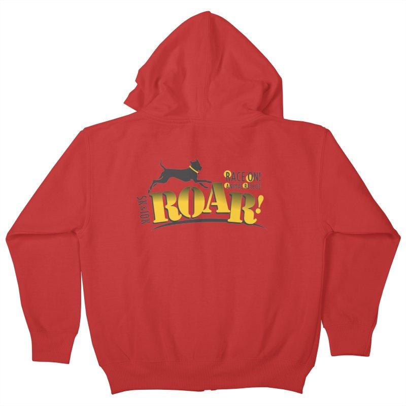 ROAR! Race On Animal Rescue Kids Zip-Up Hoody by FayeKleinDesign's Artist Shop