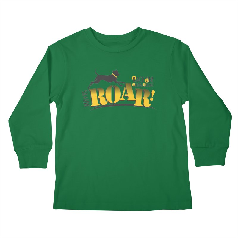 ROAR! Race On Animal Rescue Kids Longsleeve T-Shirt by FayeKleinDesign's Artist Shop