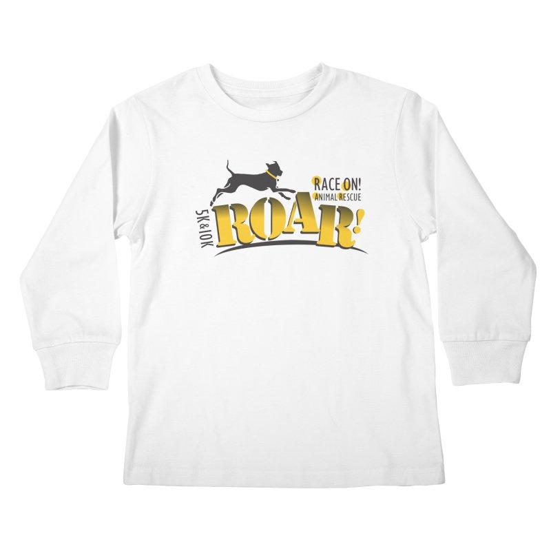 ROAR! Race On Animal Rescue Kids Longsleeve T-Shirt by FayeKleinDesign's Artist Shop
