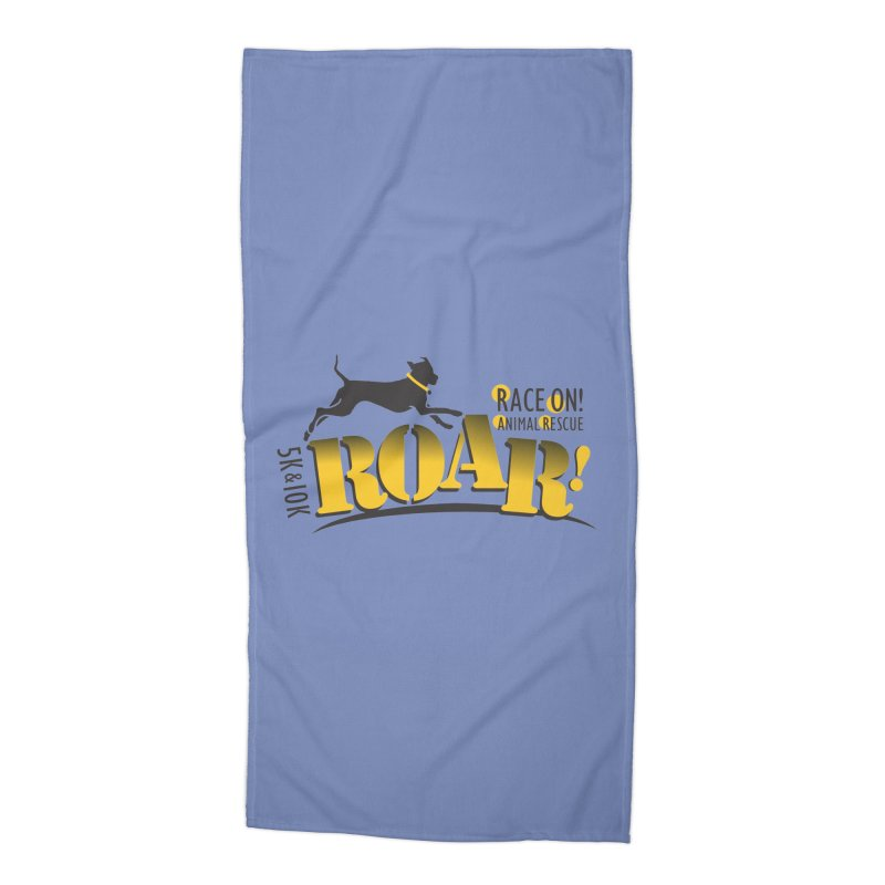 ROAR! Race On Animal Rescue Accessories Beach Towel by FayeKleinDesign's Artist Shop