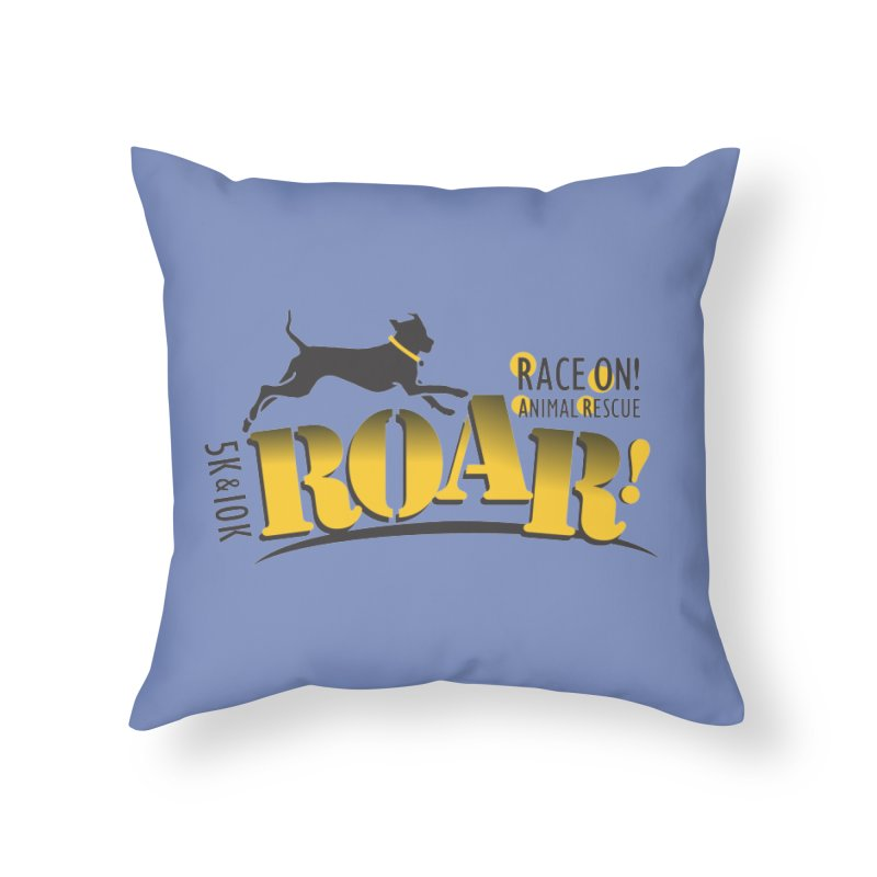 ROAR! Race On Animal Rescue Home Throw Pillow by FayeKleinDesign's Artist Shop