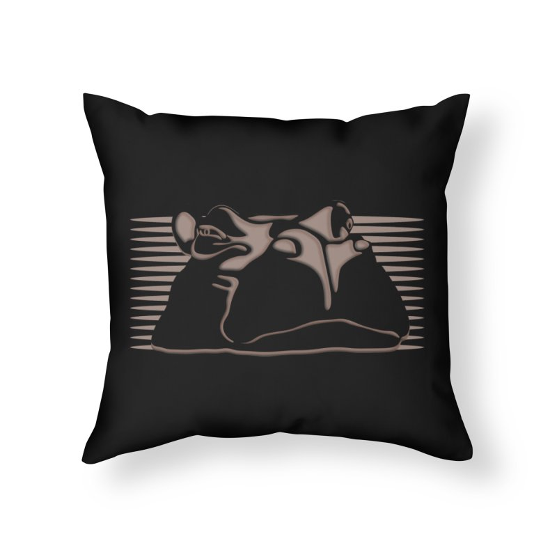 Hip Stirs in Throw Pillow by FayeKleinDesign's Artist Shop